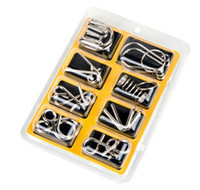 Wholesale Metal Wire Puzzles - 8PCS Set Metal Wire Puzzle IQ Mind Brain Teaser Puzzles Game for Adults Children Kids Eeducational Toy