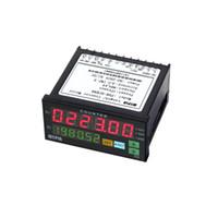 Wholesale Hour Meter Ac - Freeshipping Digital Counter Mini Length Batch Meter Preset Relay Output Count Meter Practical Length Meter 90-260V AC DC The Hours Machine