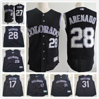 black stories - cheap Custom Colorado Rockies Nolan Arenado Trevor Story Todd Helton Blackmon Black Vest Sleeveless Stitched Mens Jerseys S XL