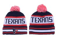 Wholesale Cowboy Hats Girls Pink - free shipping newst Texans Football Beanies Team Hat Winter Caps Popular Houston Beanie Caps Skull Caps Best Quality Warm Adult Sports Caps
