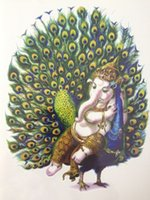 Wholesale peacock stickers - Wholesale- 2016 21 X 15 CM Peacock and Elephant Sexy Cool Beauty Tattoo Waterproof Hot Temporary Tattoo Stickers