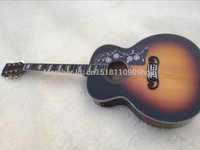 Wholesale Best Quality Acoustic Guitar - Wholesale-Factory Custom Top Quality sunset color tiger stripe Chibson J200 classic acoustic guitar,China Best,Free shipping