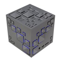 LED Magic Cube Mini Bluetooth Lautsprecher Qone Plus Portable Subwoofer Wireless Lautsprecher Musik Player mit FM Radio für Samsung Any Smartphone