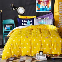 2017 New Fashion Yellow Color Unique Design Twin / Queen / King Size 100% algodão Kids Bedding Set