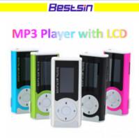 Wholesale Mini Speaker 2gb - Bestsin Mini Mp3 Player with LCD Screen built in speaker music Support 2GB 4GB 8GB 16GB 32GB TF Card MP3 Player