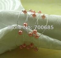 Wholesale Cheap Wholesale Napkin Rings - Wholesale- pink cheap bulk napkin ring acrylic flower, wholesale pearl napkin holderapkin ring