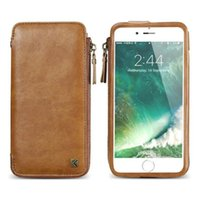 Para iphone 6 6S 7 Plus Universal Wallet Leather Case Bolsa PU com Slots de cartão Lanyards Multi Function Phone Bag