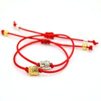 Wholesale Thread Braided Bracelets - Wholesale- AoSong Gold color Buddha head Amulet bracelet Red rope thread string braided men women Reiki hombres Chakra bracelet pulseira