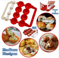 Wholesale Mould Ball - Newbie Meatballs Mold Stuffed Fish Meat Balls Maker ABS Homemade Mould DIY Kitchen Cooking Tools OOA2065