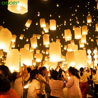 Wholesale Wedding Fly Chinese Paper Lanterns - Chinese Paper Lantern Sky Lanterns Flying Wishing Lamp Kongming Lantern Balloon Wedding Party Decoration