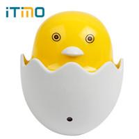 ламповая утка оптовых-Wholesale- iTimo Light Control Sensor US EU Plug AC 110-220V Home Decoration Bedroom Lamp LED Night Light Yellow Duck