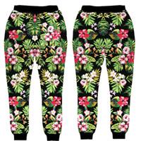 Wholesale Fashion Trousers For Women - Wholesale- New style design For Men Women Jogger Pants Pattern Flowers 3D Print Sweatpants Hip Hop Trousers