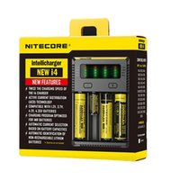 Wholesale 12v li ion charger resale online - HOT Nitecore New i4 Intellicharger Smart Battery Charger for Li ion IMR Ni MH Ni Cd Batteries with V Adapter Slots shipping free