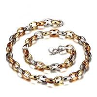 Wholesale Bean Pendant Necklace - Meaeguet 56cm long stainless steel necklaces chain for men coffee beans shape statement necklaces men jewelry