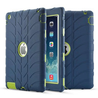 Wholesale Hard Rubber Case Ipad Mini - Armor Heavy Duty Shock-Absorption Three Layer Shockproof Defender Protective Case for iPad 2 3 4 5 6 Air Mini 1 Por 9.7 Silicone Hard Cases