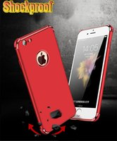 Wholesale Iphone Circle Case - Electroplated Shockproof Soft Tpu Magnetic case Back Cover with Bulky Air Cushion Corner For Iphone 6 6s 7 plus Circle Hole Car Holder