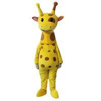 Wholesale Giraffe Mascots - Giraffe Mascot Costume Cartoon Real Photo