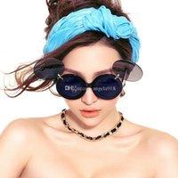 Wholesale Stylish Ladies Sunglasses - Mickey Stylish Cool Boys Girls Sunglass Anti UV woman man Sun glasses Lady Gaga Flip sunglasses C1420