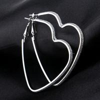 Wholesale Jewelry Ear Cuff Hoop Earring - Love Heart Pendant Earrings Silver Gold Plated Hoop Earrings Rings Ear Cuffs Pendants Fashion Jewelry for Women Gift Drop Shipping