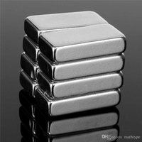Wholesale Magnet Square - 8pcs 20 X 10 X 5mm Square Block N52 Neodymium Permanent Super Strong Magnets Powerful Watch your hand