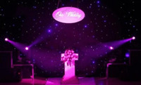 Wholesale Wholesale Wedding Supplies Usa - 2017 NEW Luxury Blue-White Color LED Star Curtain Wedding Stage Backdrop Cloth With DMX512 Controller For Wedding Decoration Supplies MYY