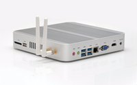 intel i5 masaüstü toptan satış-Freeshipping Yeni 6Gen Intel Çekirdek i5 6200U Fansız Intel Skylake Mini PC Barebone Intel HD Grafik 520 4 K HDMI VGA USB3.0 Masaüstü Bilgisayar