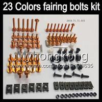 Wholesale R6 Bolts - Fairing bolts full screw kit For YAMAHA R6 YZFR6 03 04 05 YZF-R6 YZF600 YZF 600 YZF R6 2003 2004 2005 Body Nuts screws nut bolt kit 13Colors