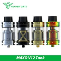 Wholesale Atomizer C4 - Wholesale- Original IJOY MAXO V12 Atomizer V12 SUBOHM RTA Tank 5.6ml with V12-RT6 DECK Max 315W Huge Vapor Atomizer XL-C4 chip coil
