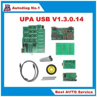 Wholesale Bmw Usb Adaptor - 2016 BEST Quality UPA USB Programmer V1.3.0.14 With Full Adaptors Best UPA USB Serial Programmer with English Language green