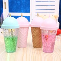 Wholesale Hand Cream Warmer - Creative Cup Ice Cream Styling Belt Cover Diamond Children Bottle Multi Function Outdoor Sport Portable Kettle 4 5bf J R
