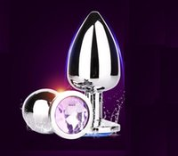 Wholesale Stainless Steel Buttplug - 3 SIZES Stainless Steel Attractive Butt Plug Anal Jewelry plugs high quality buttplug sex toys