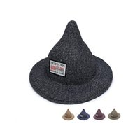 Wholesale Witch Box - High quality Summer foldable beach hat shade spire witch sun hat lady sunscreen hat M020 with box