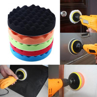 Wholesale 5pcs set Universal inch Sponge Foam Waffle Polishing Buffer Pad Kit for Auto Car Polisher