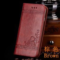 Para o iphone 7 Plus Vintage Back Wallet Leather Slim Case para iphone 6 5S Flip Flower Embossing Cover para Samasung Galaxy S7 S8