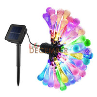 Éclairage Décoratif Pas Cher-Extérieur LED décoratif Lumières de cordes solaires 6M 30 LED RGB / Bleu / Rouge / Vert / Rose / Violet / Chaud / Cool LED Flash Water Drop String Lights