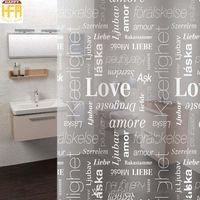 Wholesale Letters Shower Curtain - 180*180Cm Shower Curtains Bath Curtain Creative LOVE Letters Clear Bathroom Shower Curtains Eco-Friendly Mildew Proof Bath Curtain