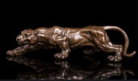 Wholesale Antique Ship Lights - free shipping! 16 inch Art Deco Leopards Bronze Sculpture Cubism Panthers Statue