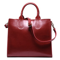 Wholesale Female First - Female genuine leather handbags large capacity women messenger bags real leather bags first layer leather shoulder bags