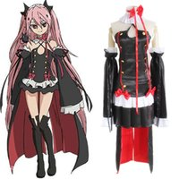 Wholesale Lolita Anime - Krul Tepes costumes cosplay Lolita skirt Japanese anime Seraph of the end clothing Masquerade Mardi Gras Carnival costumes supply from stoc