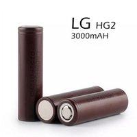 lanternas fedex venda por atacado-Baterias Recarregáveis LG HG2 18650 Bateria 3000 mah 35A Máximo de Lítio HE4 HE2 MJ1 Led Lanterna Fedex Frete Grátis