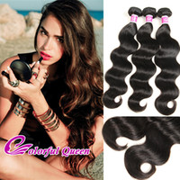 Wholesale Colorful Curly Natural Hair - Colorful Queen Brazilian Virgin Human Hair Bundles 3pcs Lot 300g Body Wave Kinky Curly Straight Deep Wave Loose Wave Hair Extensions Weaves