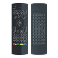Original MX3 2.4G Remote Backlit Mini Wireless Keyboard Air Mouse pour Android TV Box IPTV HTPC Mini PC