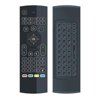 htpc iptv toptan satış-Orijinal MX3 2.4G Uzaktan Aydınlatmalı Aydınlatmalı Mini Kablosuz Klavye Android TV Box için Hava Fare IPTV HTPC Mini PC
