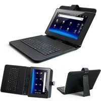 arabischer tablette-pc großhandel-Wholesale-10 Zoll Englisch Russisch Spanisch Arabisch Tastaturabdeckungsfall für 10