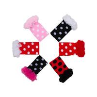 Wholesale Polka Dot Ruffle Leg Warmer - New Polka Dots Printed Baby Girls Leg Warmer Kint Cotton Protector Kids Kneecaps Candy Color Ruffle Kids Leg Warmer 10 Colors