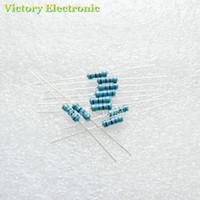 Wholesale Resistor Metal Film Ohm - Wholesale- 50PCS Lot New 1 2W 0.5W 1% Resistor 0.5 ohm Metal Film Resistor Color Ring Resistance Wholesale Electronic