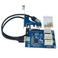 Wholesale mini itx desktop - NEW aad in card PCIe 1 to 3 PCI express 1X slots Riser Card Mini ITX to external 3 PCI-e slot adapter PCIe Port Multiplier Card