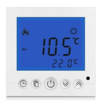 Wholesale Digital Room Floor Heating Thermostat Blue LCD Display Programmable Weekly Temperature Controller
