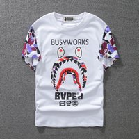 Wholesale Printed Tshirts For Women - Tide Brand Men And Women Lovers Dress Short Sleeve Superior Quality Shark T shirt for Pity 062 t-shirt fashion tshirts Men's Clothing
