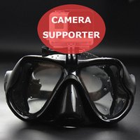 Wholesale Adult Diving Mask - Wholesale-Silicone Scuba Diving Mask Tempered Glass Lens Anti Fog Adult Diving and Snorkeling Equipment Swimming Protector & Camera Holder